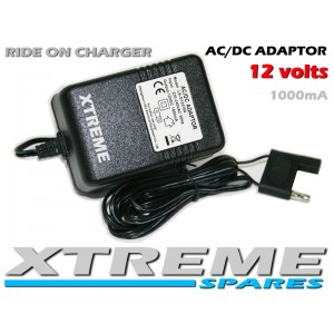 REPLACEMENT 12V 1000mA RIDE ON AC CHARGER POWER SUPPLY 4 PIN CONNECTOR