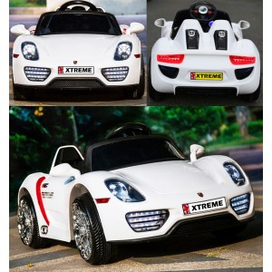 Xtreme 12v Porsche Style Ride on Car in White