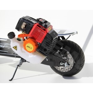GAS PETROL SCOOTER 2 STROKE COMPLETE ENGINE WITH GEARBOX AND FUEL TANK 49-50cc