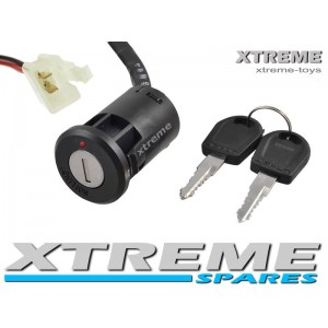 MINI XTM DIRT BIKE / SCOOTER / 2 WIRE IGNITION + KEY 2 PIN CONNECTOR