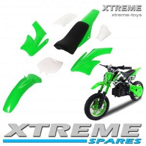 MINI NITRO DIRT BIKE / MOTOR BIKE COMPLETE GREEN PLASTICS KIT