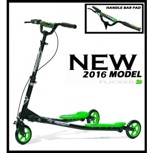 XTREME FLICKER 3 SCOOTER BLACK/ GREEN