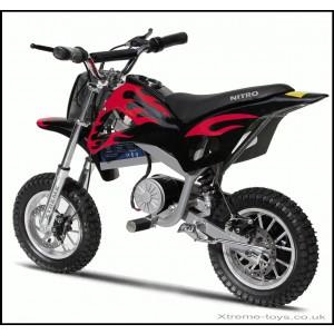 NITRO 350w DIRT BIKE IN BLACK/ RED