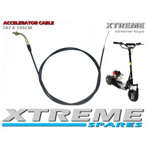 PETROL SCOOTER 77 INCH ACCELERATOR THROTTLE CABLE 187 X 196CM / GO PED/ SPARES