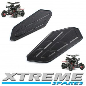 MINI QUAD ATV PLASTICS FOOT RESTS LEFT + RIGHT 49 - 50cc