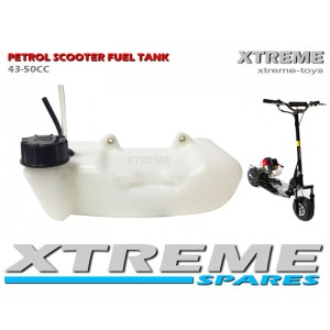 PETROL SCOOTER 2 STROKE FUEL TANK WITH PETROL PIPE /GO PED 43-49cc/ SPARES