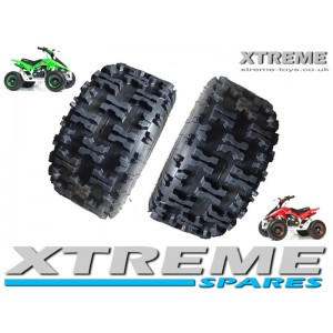 "2 x MINI QUAD BIKE TYRE / MONSTER ATV / GO KART 13 x 5.00 - 6"" INCH"