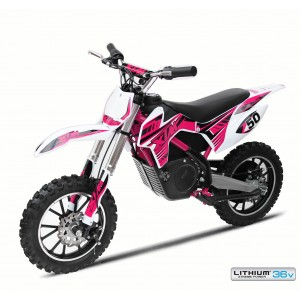 NEW XTREME 36V 500W XTM DIRT BIKE IN PINK - WITH LITHIUM BATTERIES