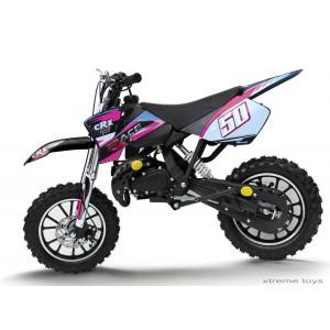 CRX RACE 50cc MINI DIRT BIKE IN BLACK PINK