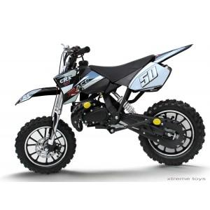 CRX RACE 50cc MINI DIRT BIKE IN BLACK/ SILVER