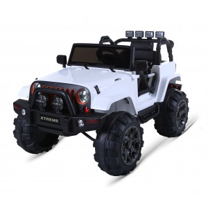 Xtreme 12v Ride on SUV Jeep in White With Open Doors