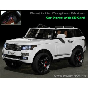 Xtreme 12v Ride on Range Rover Vogue Style Car in White