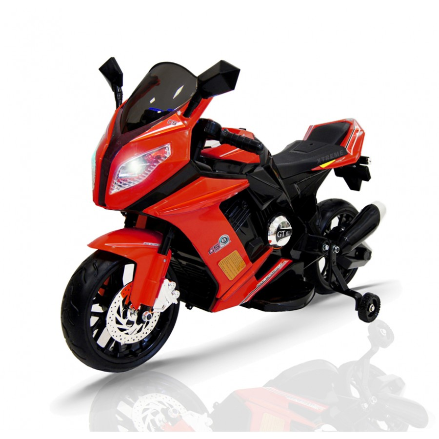 12v Xtreme Electric Motorbike Ride On Car In Red Xtreme Toys