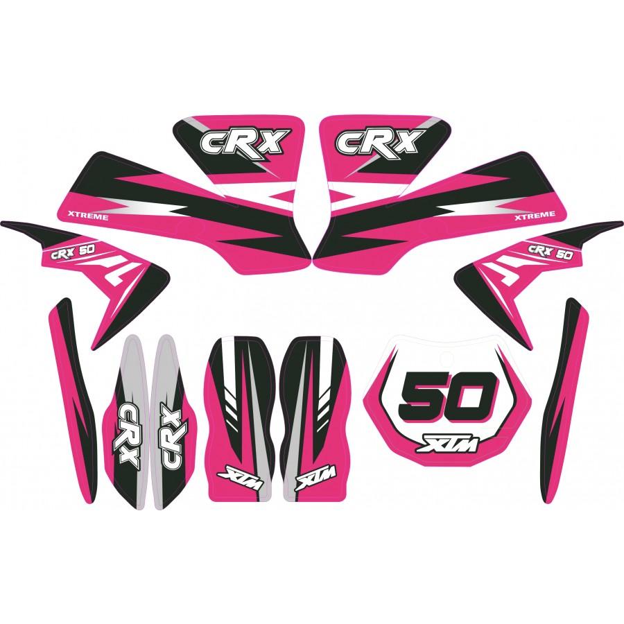 Decal Kits Product : Mini dirt bike xtm crx sticker kit decals transfers