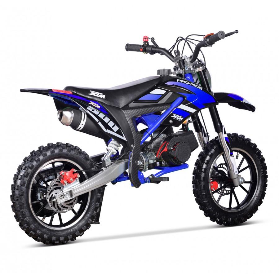 xtm pro rider 50cc dirt bike black blue xtreme toys. Black Bedroom Furniture Sets. Home Design Ideas