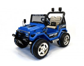 Xtreme 12v Ride on Off-Road 4X4 Two Seater Jeep in Blue