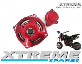 MINI QUAD/ DIRT BIKE/ MINI MOTO RED CLUTCH HOUSING 6 TOOTH 8mm CLUTCH BELL 49cc