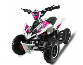 XTM MONSTER 50cc QUAD BIKE WHITE PINK