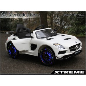 Xtreme 12v Licensed Mercedes-Benz SLS AMG Ride on Car in White