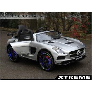 Xtreme 12v Licensed Mercedes-Benz SLS AMG Ride on Car in Silver