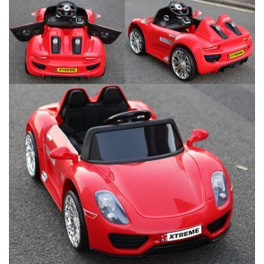 Xtreme 12v Porsche Style Ride on Car in Red