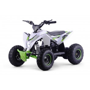 XTM RACING 48v 1300w QUAD BIKE WITH LITHIUM BATTERIES IN WHITE / GREEN