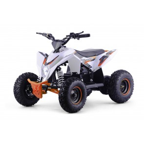 XTM RACING 48v 1300w QUAD BIKE WITH LITHIUM BATTERIES IN WHITE / ORANGE