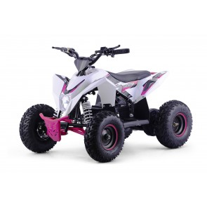 XTM RACING 1000w QUAD BIKE IN WHITE/ PINK