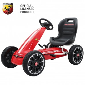 Xtreme Kids Official Licensed Abarth Pedal Go Kart with Hand Brake in Red