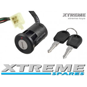 ELECTRIC QUAD / DIRT BIKE / SCOOTER / 4 WIRE IGNITION + KEY 4 PIN CONNECTOR
