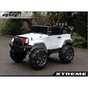 Xtreme 12v Ride on SUV Jeep in White With Solid Doors