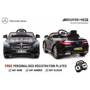 Xtreme 12v Licensed Mercedes-Benz S63 AMG Coupe Ride on Car in Black