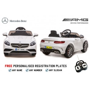 Xtreme 12v Licensed Mercedes-Benz S63 AMG Coupe Ride on Car in White