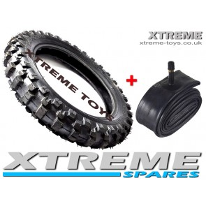 "MINI DIRT BIKE TYRE + INNER TUBE /  2.50 - 10"" CRX 50 / MOTOCROSS"