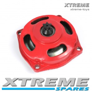 MINI MOTO/ QUAD/ DIRT BIKE 6 TOOTH RED CLUTCH BELL HOUSING + SPROCKET 49cc