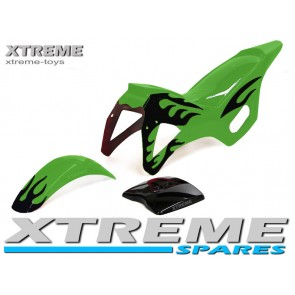MINI DIRT BIKE GREEN PLASTICS FAIRING + MUDGUARD KIT