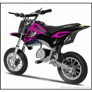 NITRO 350w DIRT BIKE IN BLACK/ PINK
