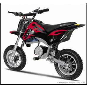 NITRO 350w DIRT BIKE IN BLACK/ RED