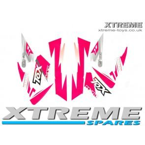 MINI DIRT BIKE CRX 50 TOX STICKER KIT / DECALS / TRANSFERS IN PINK
