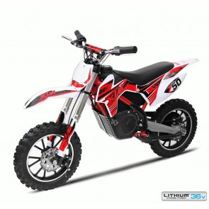 NEW XTREME 36 500w XTM DIRT BIKE IN RED - WITH LITHIUM BATTERIES