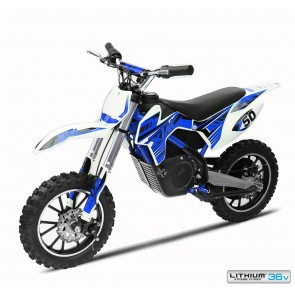 NEW XTREME 36 500w XTM DIRT BIKE IN BLUE - WITH LITHIUM BATTERIES