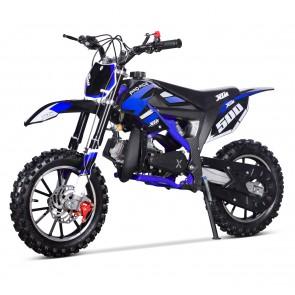 NEW XTM PRO-RIDER 50cc MINI DIRT BIKE IN BLACK BLUE