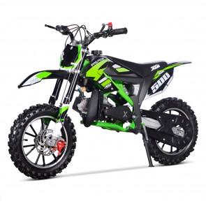 NEW XTM PRO-RIDER 50cc MINI DIRT BIKE IN BLACK GREEN