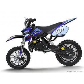 CRX RACE 50cc MINI DIRT BIKE IN BLACK BLUE