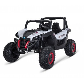 Xtreme 2018 BIG 24v Ride on SUV Jeep in White With Open Doors