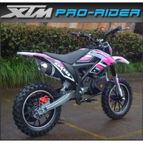 NEW XTM PRO-RIDER 50cc MINI DIRT BIKE IN PINK