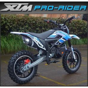 NEW XTM PRO-RIDER 50cc MINI DIRT BIKE IN BLUE