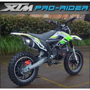 NEW XTM PRO-RIDER 50cc MINI DIRT BIKE IN GREEN
