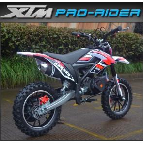 NEW XTM PRO-RIDER 50cc MINI DIRT BIKE IN RED