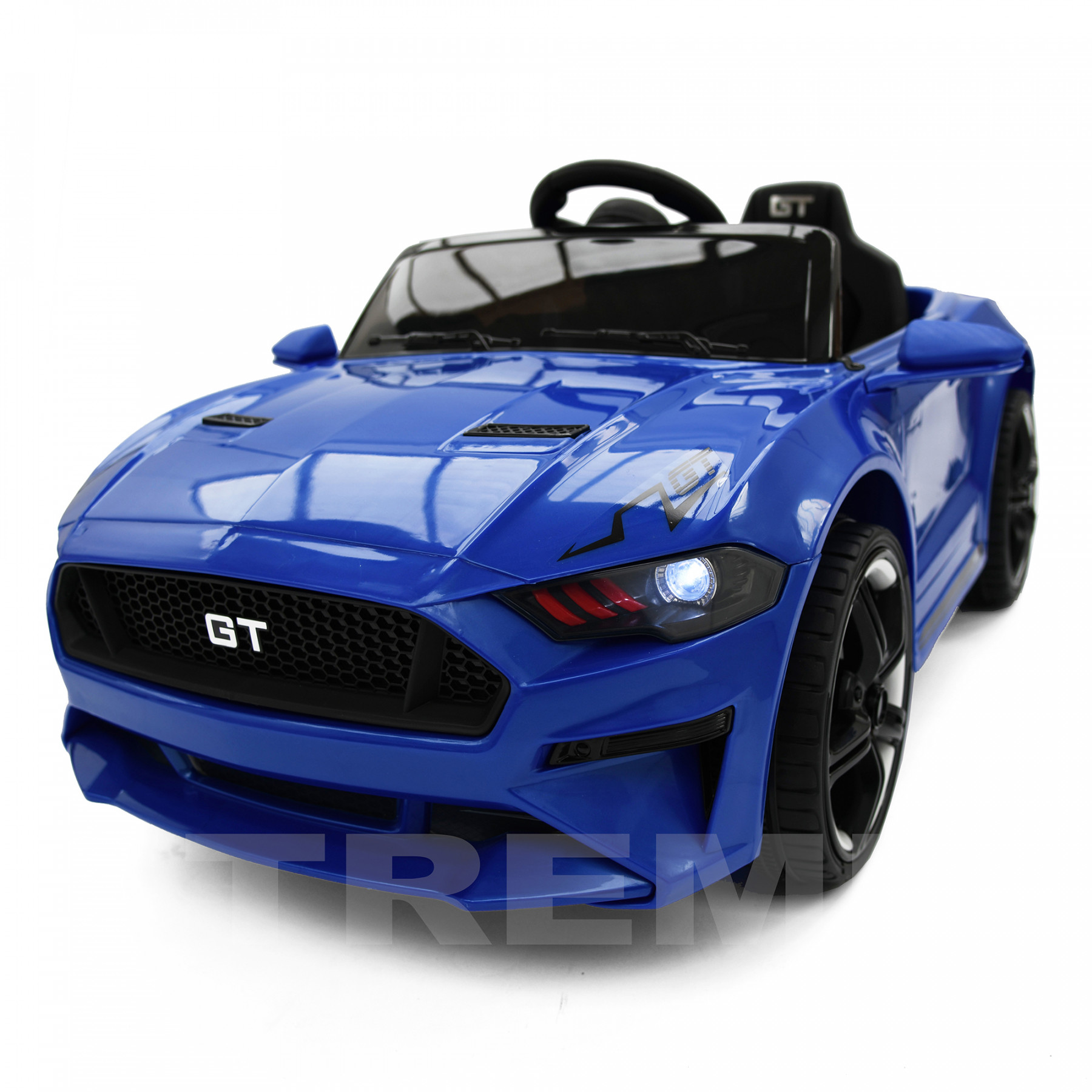 Xtreme 12v Ford Mustang GT Style Ride on Muscle Car Blue